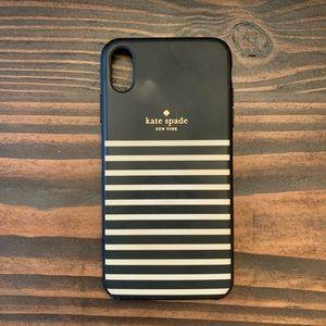 Kate Spade ♠️ iPhone XS Max Black & White case